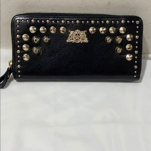 Juicy Couture studded clutch wallet